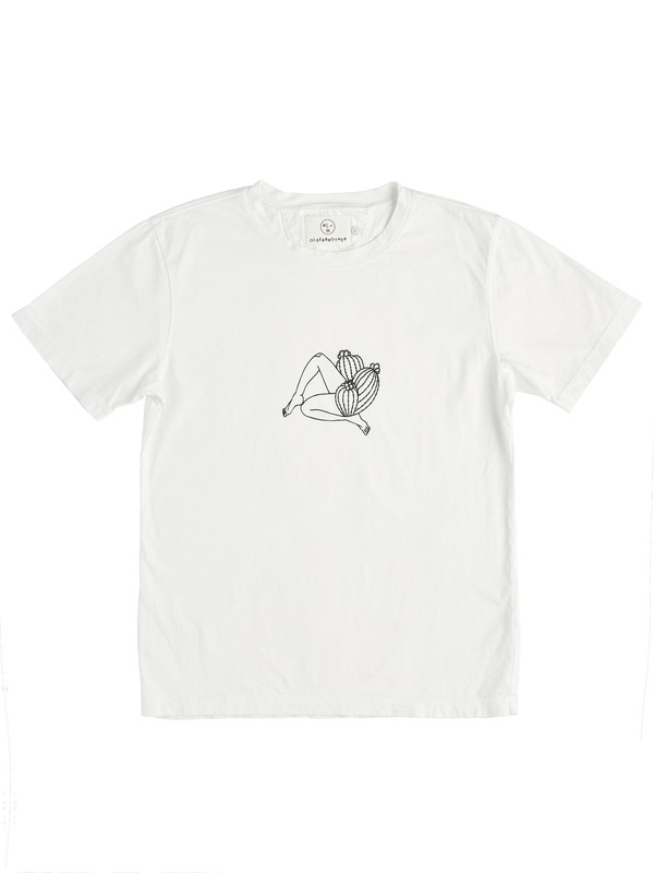 Olderbrother Strange Plants II x David Schiesser Tee - Legs- White