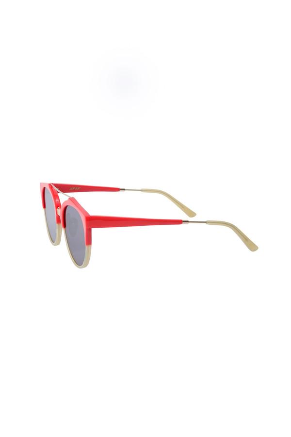 A.D.S.R. Acetate/Metal Red Sunglass