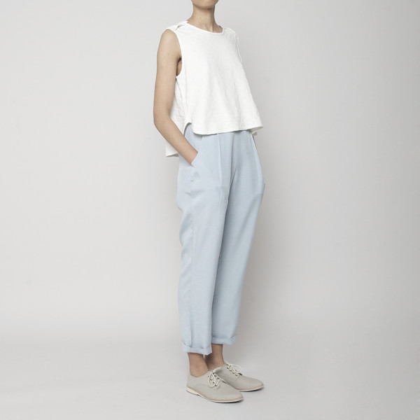 7115 by Szeki Relaxed Tapering Trouser- Sky Blue SS16