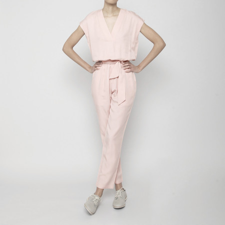 7115 by Szeki V-Neck Jumpsuit- Blush SS16