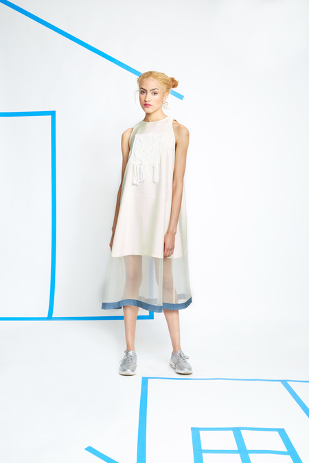 _SCAPES NY Tent Dress with Textile