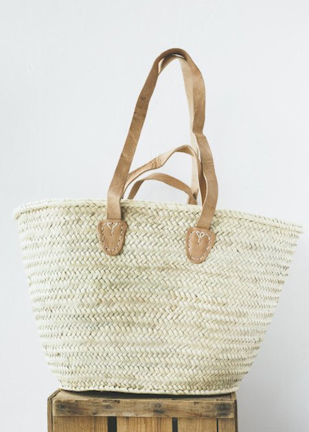 C+L Finds French Market Tote with Double Handles