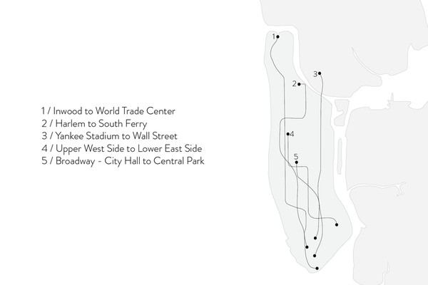 Shahla Karimi Subway Fine Necklace - Yankee Stadium to Wall St