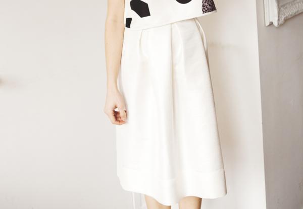 Marigold by Marilyne Baril Willow Skirt (White)