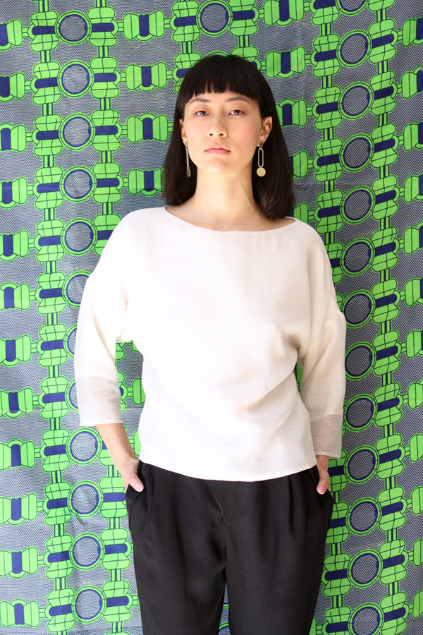Valerie Dumaine Blaise Top (Ivory Stripe)