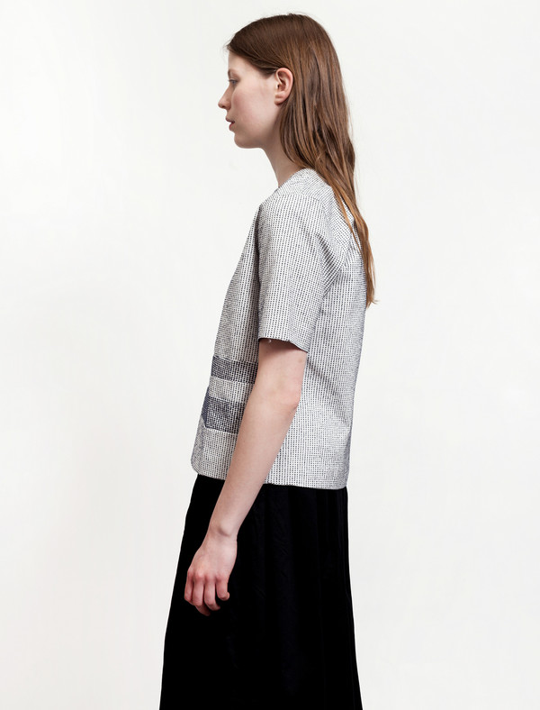Norse Projects Womens Vita Cotton Slub White/Black