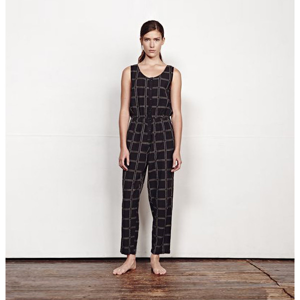 ACE & JIG JUMPSUIT - BLACK MAGIC