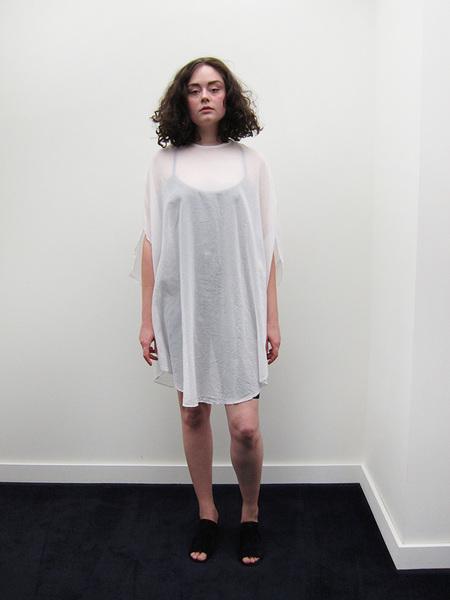 Cosmic Wonder Koromo Circular Dress, White
