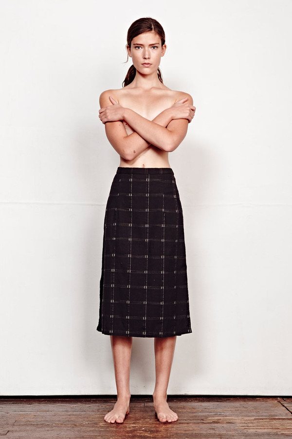ace & jig reversible gallery skirt in black magic