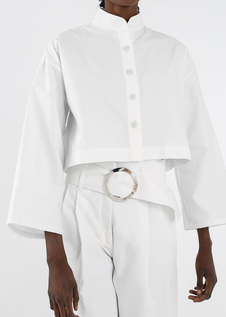 Delfina Balda White Armonia Button Up