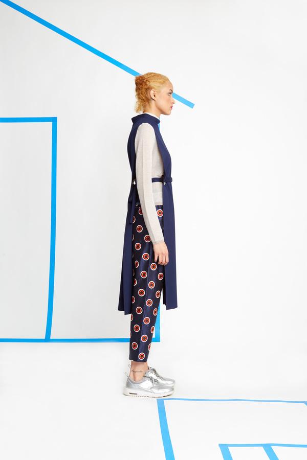 Wolcott-Takemoto Navy Jumon Dicky Dress