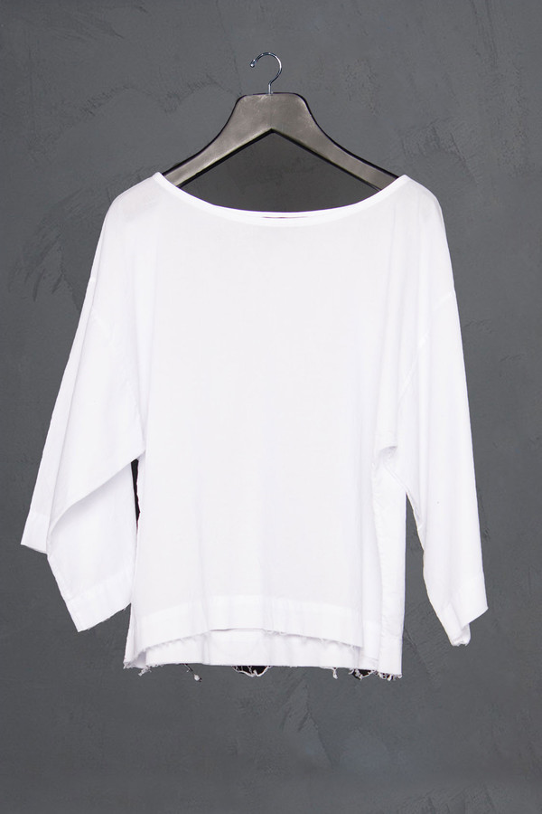 KES Cropped Raw Edge Top