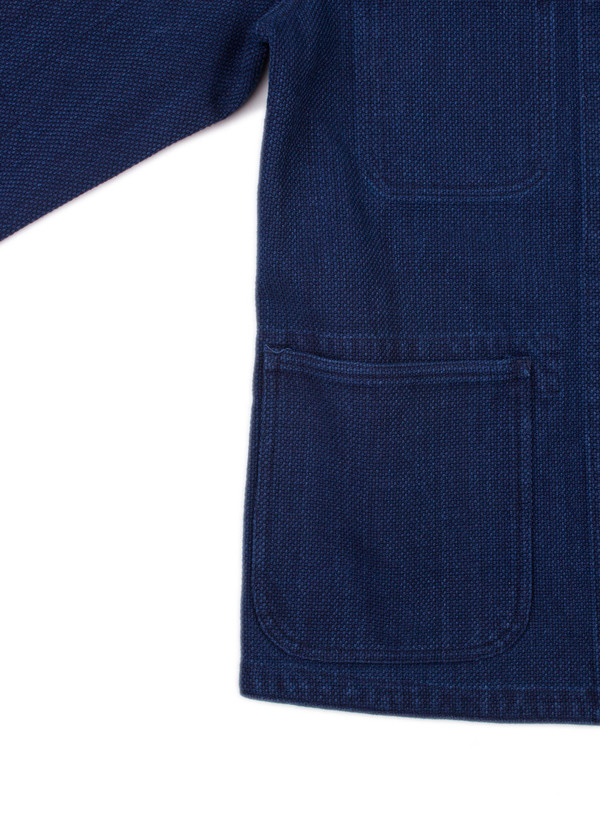 "Men's Blue Blue Japan Woven Pure Indigo ""Sashiko"" Used Washed Coverall Jacket"