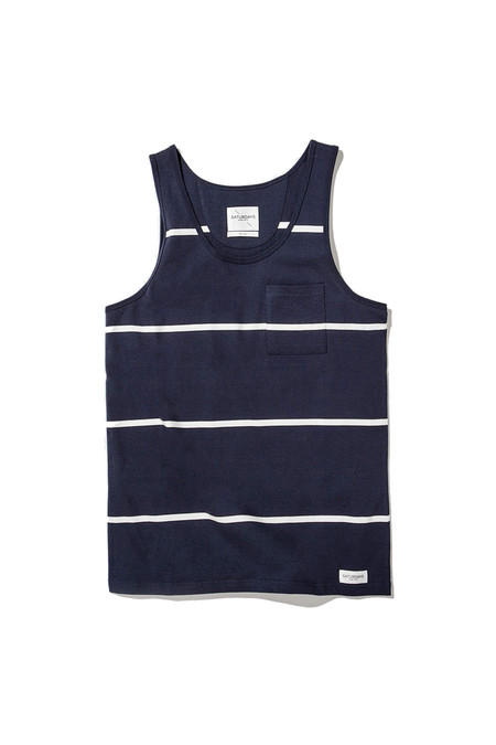 Men's Saturdays Surf NYC Rosen Wide Strip | Navy