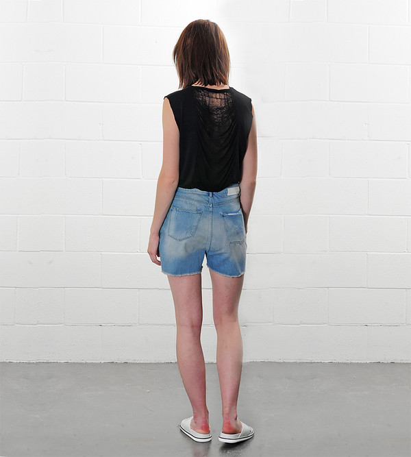 Won Hundred Lindy Light Denim Shorts