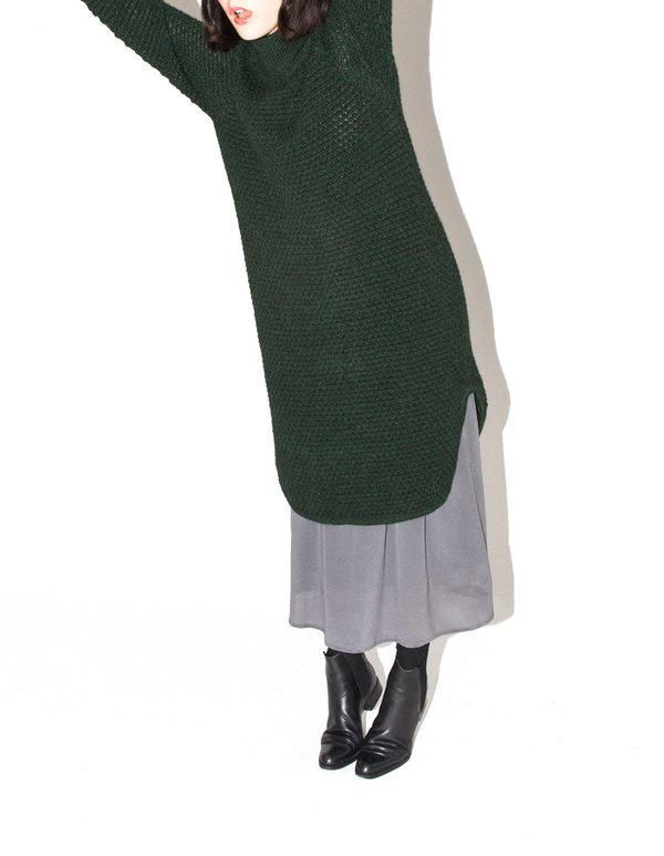 ALI GOLDEN RICE-STITCH SWEATER DRESS