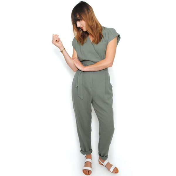 Curator Maren Pantsuit - Dusty Green