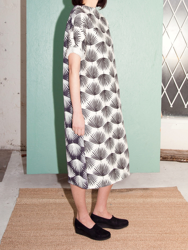 Sunja Link Palm Print Dress