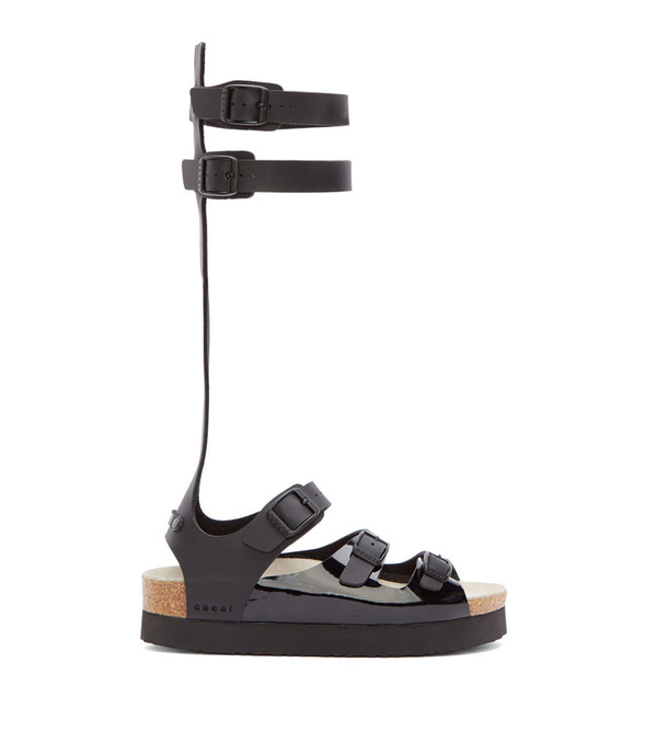 Sacai Leather Multi-Strap Gladiator Sandals