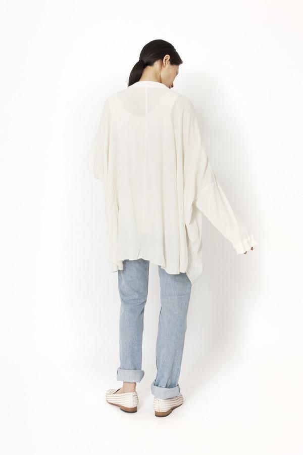 Black Crane Square Shirt (Cream)