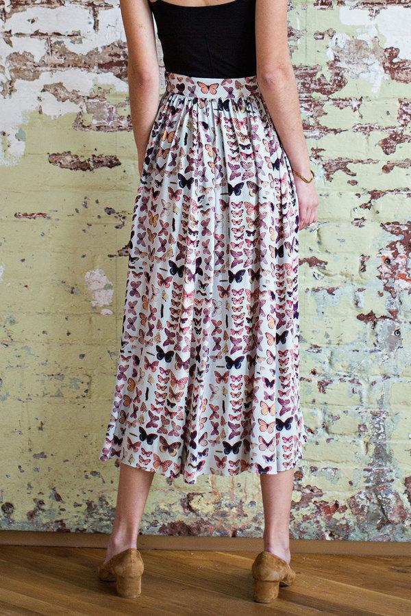 Plante  Rose Skirt in Bookplate Print