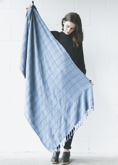 Plaj - Texada Stone Washed Towel in Denim, Light Grey or Black