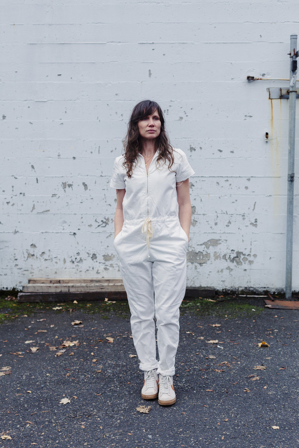 Nahanni Arntzen Menlo jumpsuit, white denim