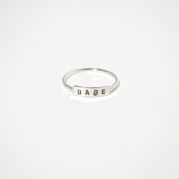 Gem & Blue Babe Ring - Silver