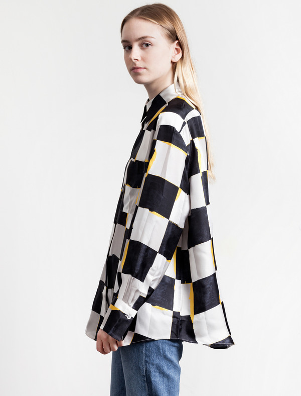 Acne Studios Womens Addle Geometric Black