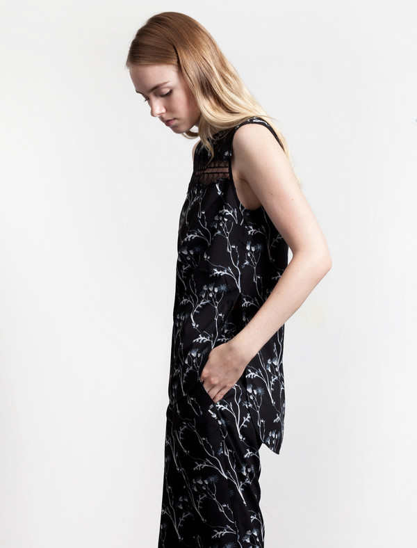 Thakoon Addition Floral Lace Inset Tank Multi