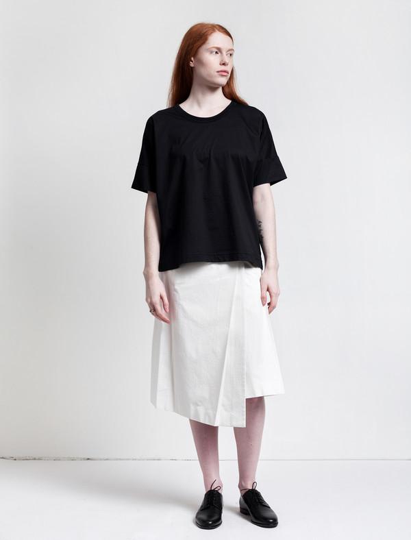 Lemaire Wrapover Skirt Chalk