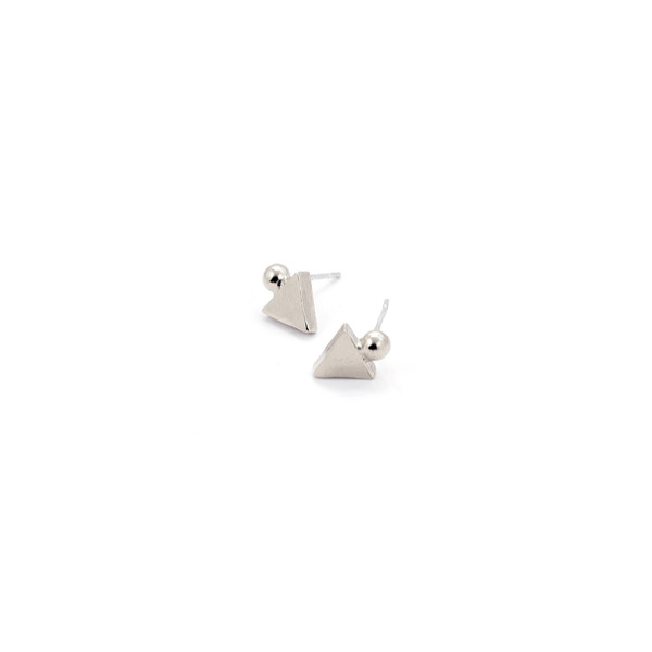 Alynne Lavigne Triangle/Ball Earrings