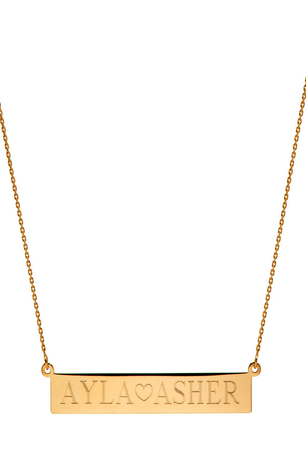 Letters By Zoe - Personalised Gold Name Necklace