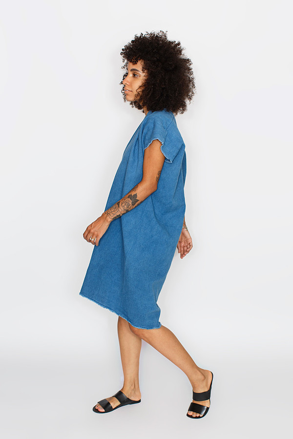 Miranda Bennett Indigo Everyday Dress | Cropped Denim