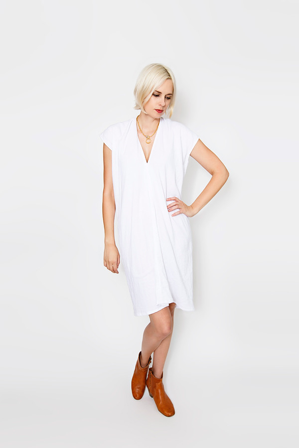 Miranda Bennett White Everyday Dress | Double Gauze