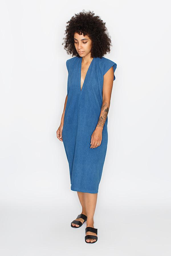 Miranda Bennett Indigo Everyday Dress | Silk