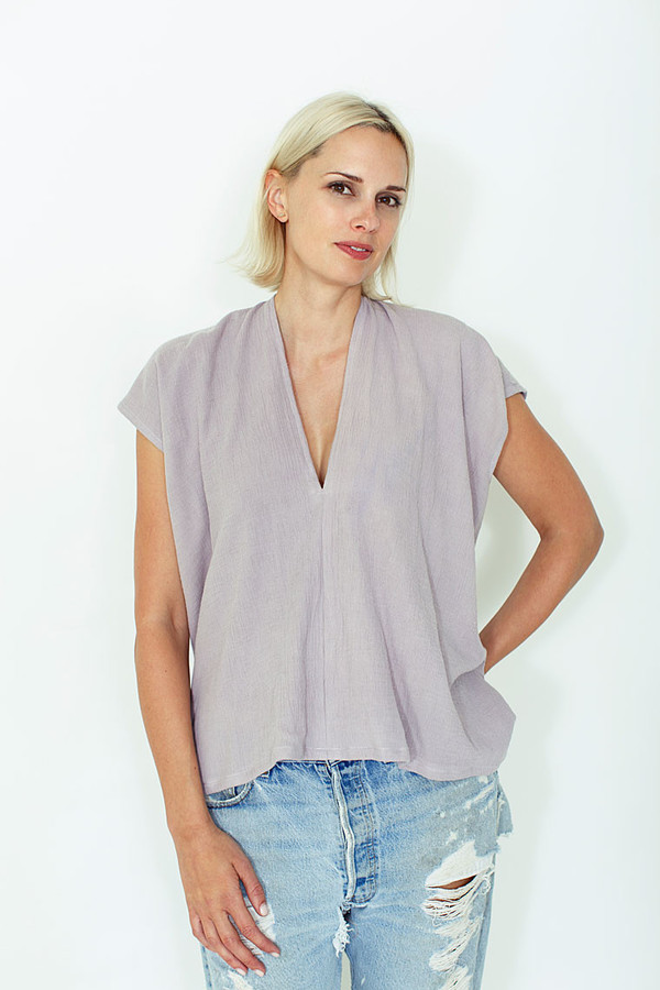 Miranda Bennett Salton Everyday Top, Double Gauze