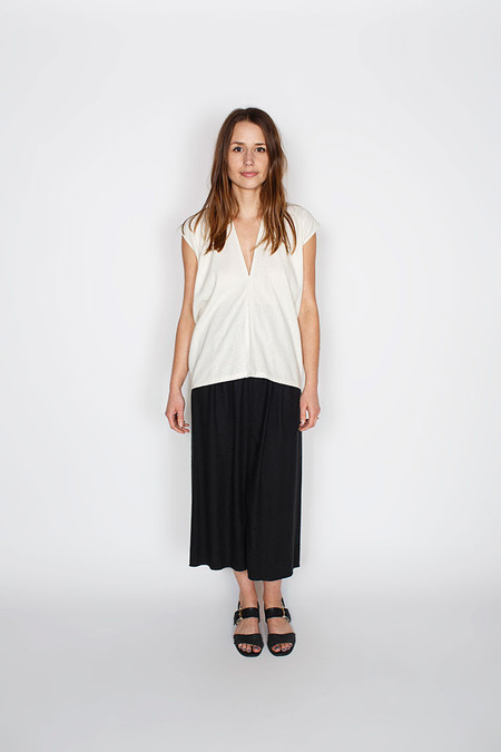 Miranda Bennett Natural Everyday Top, Silk