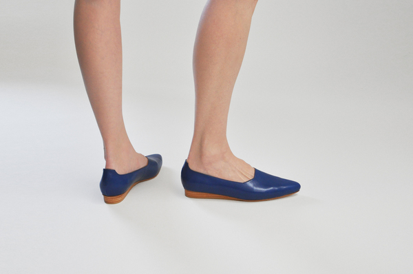 The Palatines Paratus High Vamp Wedge in Blue