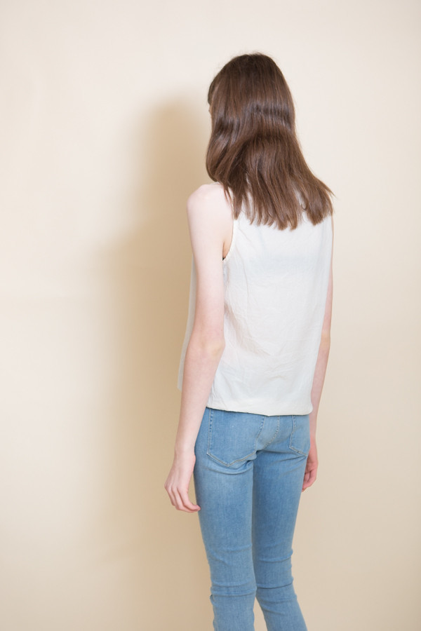 Woven Cotton Tank / Cream