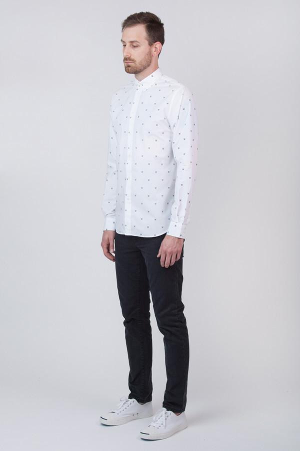 Men's Wood Wood Damien Shirt White