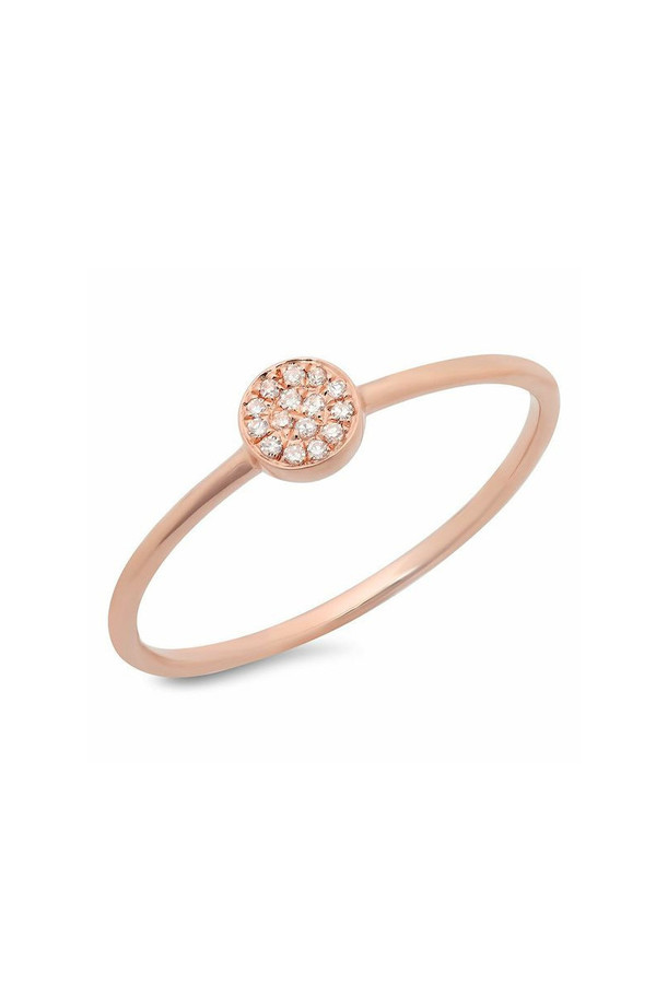 Sachi Jewelry Disc Stacking Ring Rose Gold