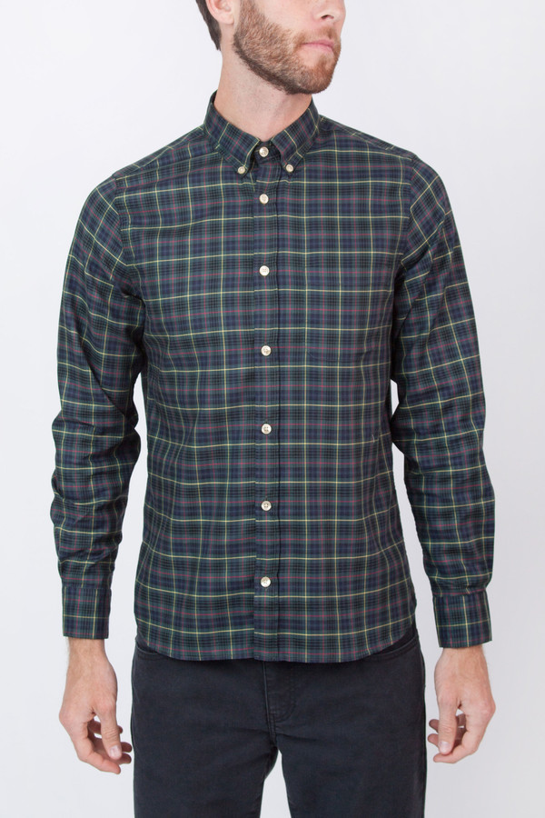 Men's Portuguese Flannel Goraz Long Sleeve Plaid Shirt
