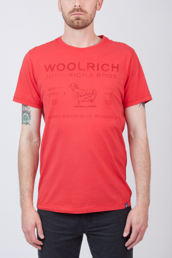 Men's Woolrich John Rich & Bros Label Tee