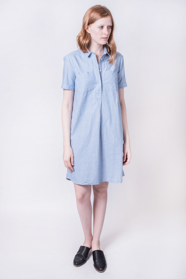 YMC Lightweight Oxford Shirt Dress
