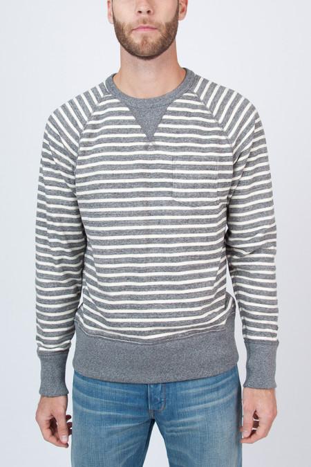 Men's Todd Snyder Champion Stripe Pocket Sweatshirt
