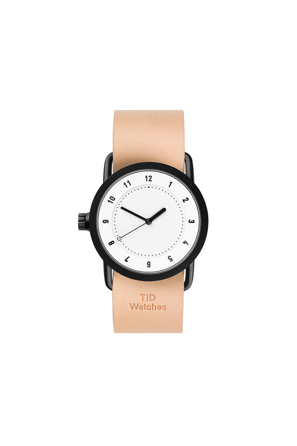 TID Watches TID No.1 36 White / Natural Leather Wristband