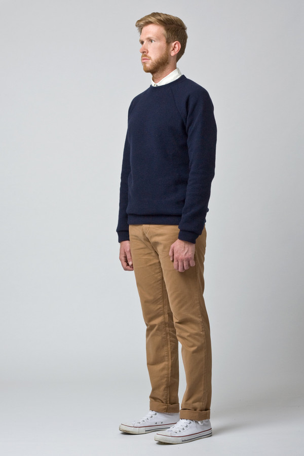 Men's Raleigh Denim Wool Sweatshirt Navy