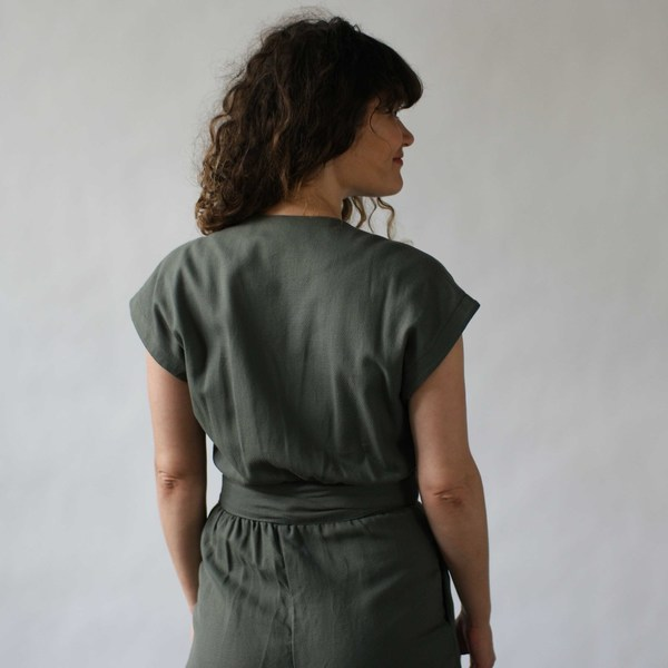 Curator Maren Pantsuit Dusty Green
