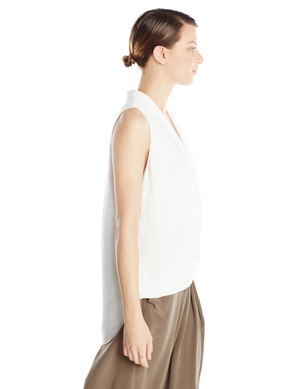Vincetta Sleeveless Wrap Blouse
